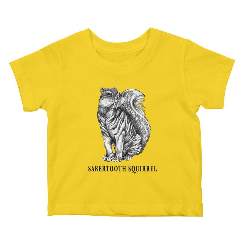 Sabertooth Squirrel | Sabertooth Tiger + Squirrel Hybrid Animal Kids Baby T-Shirt by Whatif Creations | Shop Hybrid Animals!