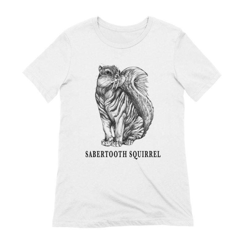 Sabertooth Squirrel   Sabertooth Tiger + Squirrel Hybrid Animal Women's T-Shirt by Whatif Creations   Shop Hybrid Animals!