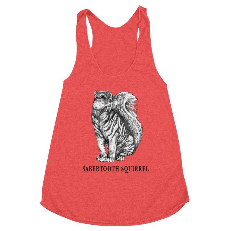 Sabertooth Squirrel | Sabertooth Tiger + Squirrel Hybrid Animal Women's Tank by Whatif Creations | Shop Hybrid Animals!
