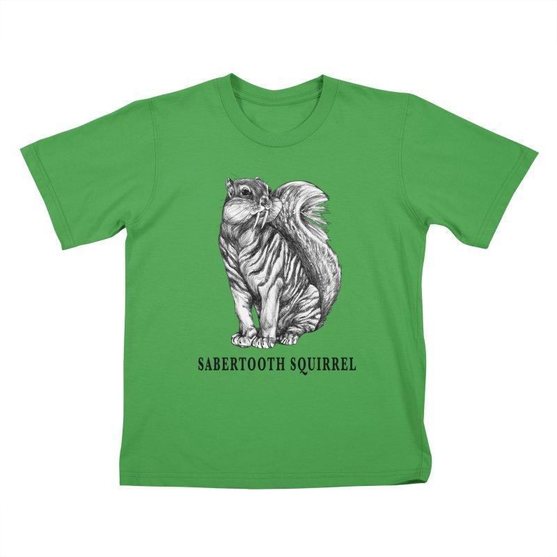 Sabertooth Squirrel   Sabertooth Tiger + Squirrel Hybrid Animal Kids T-Shirt by Whatif Creations   Shop Hybrid Animals!