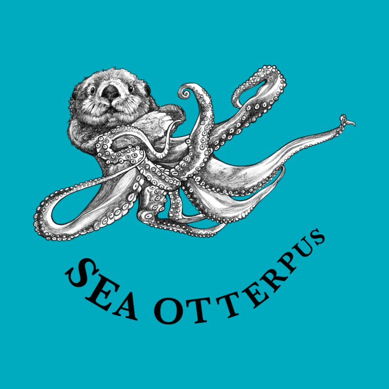 Sea Otterpus | Sea Otter + Octopus Hybrid Animal Women's T-Shirt by Whatif Creations | Shop Hybrid Animals!