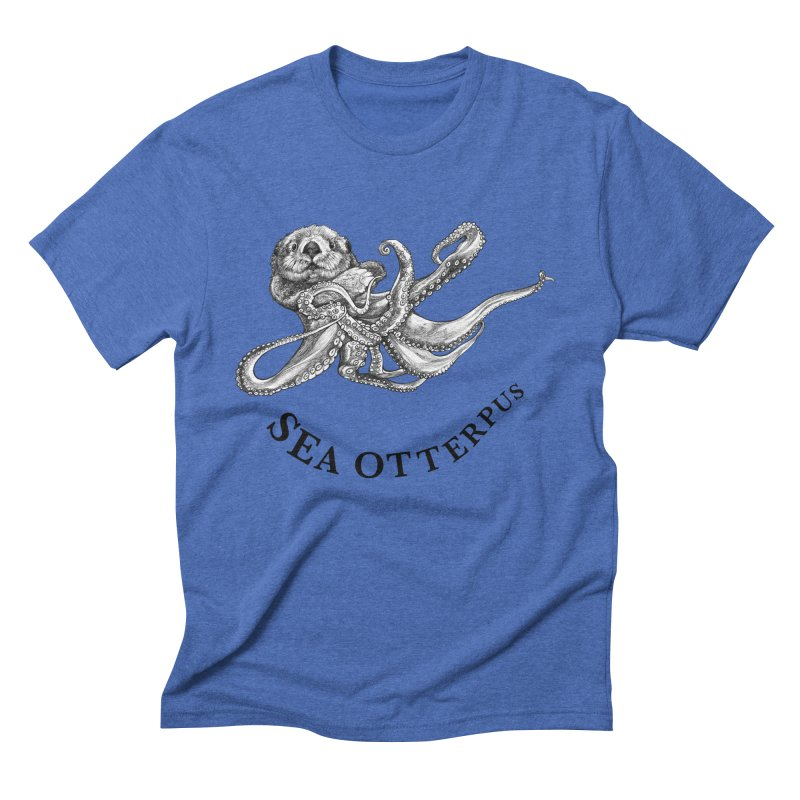 Sea Otterpus | Sea Otter + Octopus Hybrid Animal Men's T-Shirt by Whatif Creations | Shop Hybrid Animals!