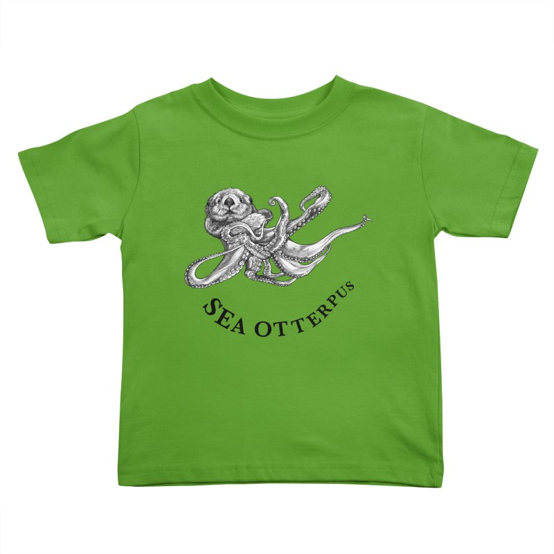 Sea Otterpus | Sea Otter + Octopus Hybrid Animal Kids Toddler T-Shirt by Whatif Creations | Shop Hybrid Animals!