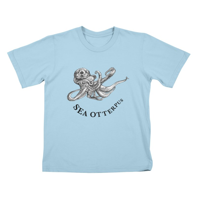 Sea Otterpus | Sea Otter + Octopus Hybrid Animal Kids T-Shirt by Whatif Creations | Shop Hybrid Animals!