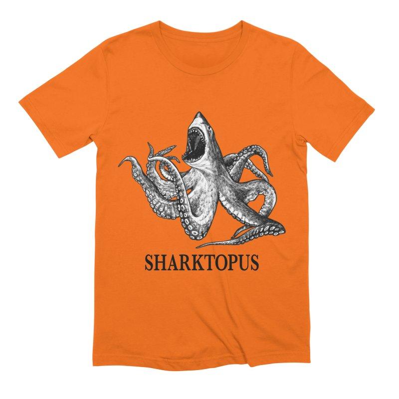 Sharktopus   Great White Shark + Octopus Hybrid Animal Men's T-Shirt by Whatif Creations   Shop Hybrid Animals!