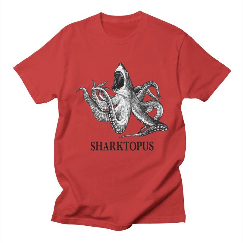 Sharktopus | Great White Shark + Octopus Hybrid Animal Men's T-Shirt by Whatif Creations | Shop Hybrid Animals!