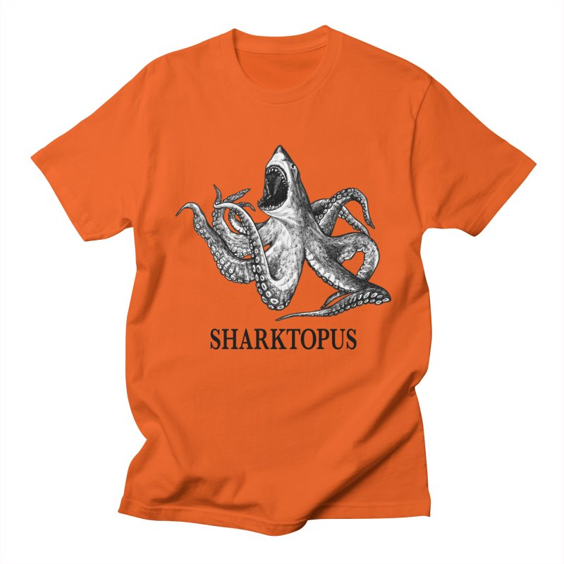 Sharktopus | Great White Shark + Octopus Hybrid Animal Men's T-Shirt by Whatif Creations | Shop Hybrid Animals!