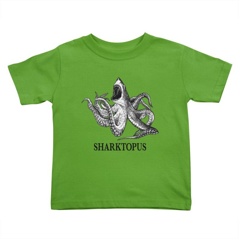 Sharktopus | Great White Shark + Octopus Hybrid Animal Kids Toddler T-Shirt by Whatif Creations | Shop Hybrid Animals!