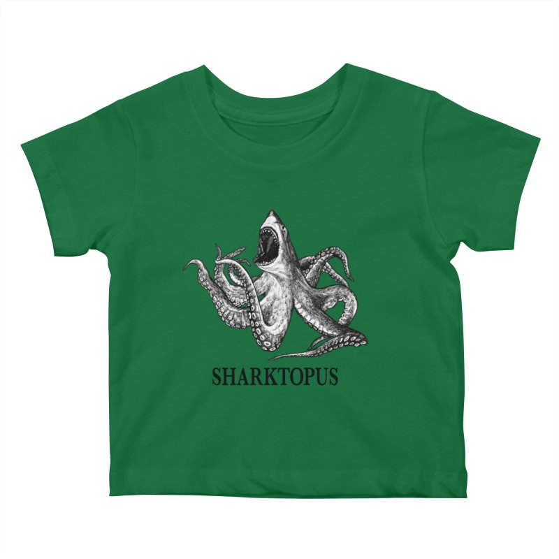 Sharktopus | Great White Shark + Octopus Hybrid Animal Kids Baby T-Shirt by Whatif Creations | Shop Hybrid Animals!