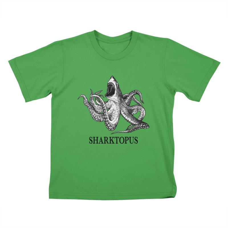 Sharktopus   Great White Shark + Octopus Hybrid Animal Kids T-Shirt by Whatif Creations   Shop Hybrid Animals!