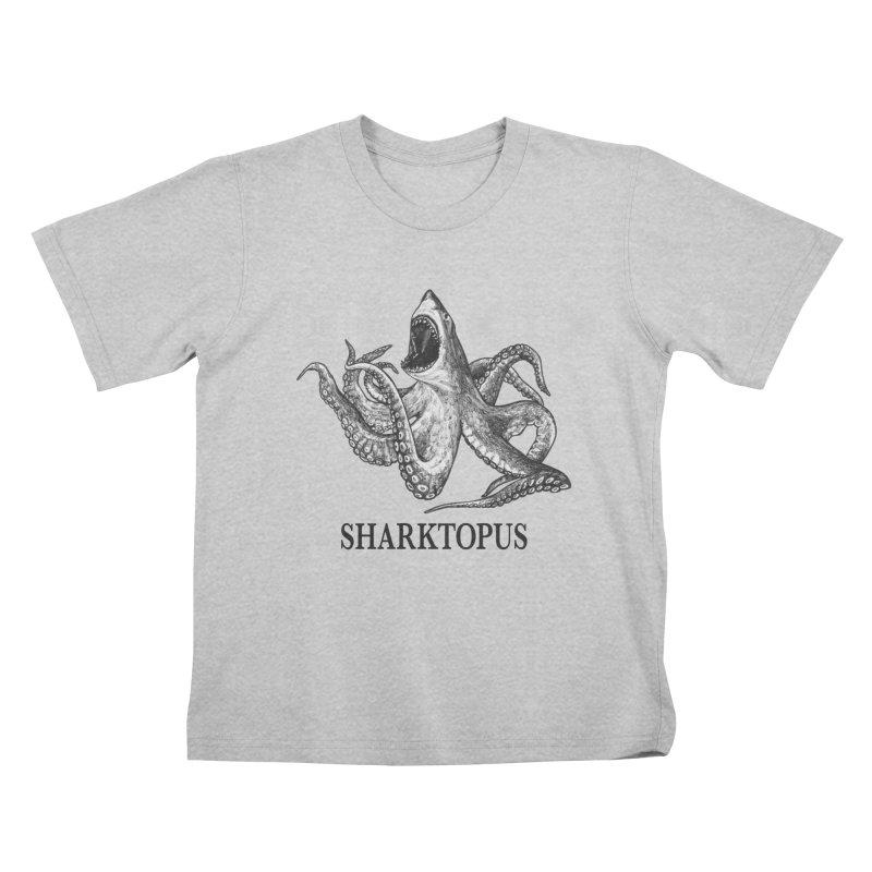 Sharktopus | Great White Shark + Octopus Hybrid Animal Kids T-Shirt by Whatif Creations | Shop Hybrid Animals!