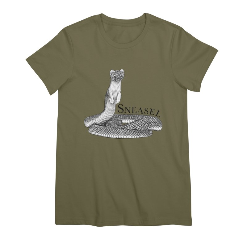 Sneasel | Snake + Weasel Hybrid Animal Women's T-Shirt by Whatif Creations | Shop Hybrid Animals!