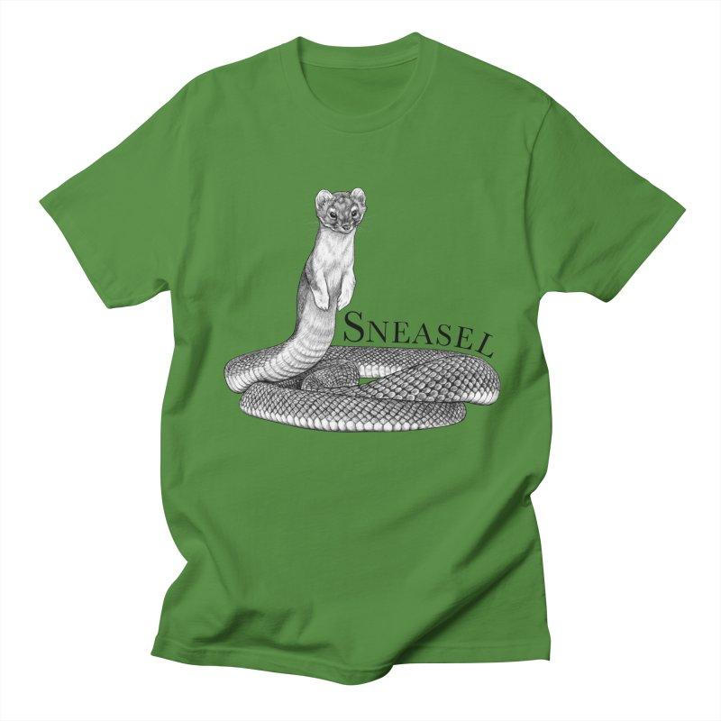 Sneasel | Snake + Weasel Hybrid Animal Men's T-Shirt by Whatif Creations | Shop Hybrid Animals!