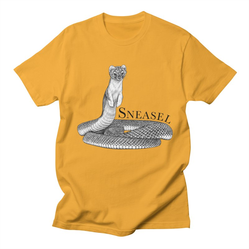Sneasel | Snake + Weasel Hybrid Animal Men's T-Shirt by Whatif Creations | Shop Hybrid Animals!