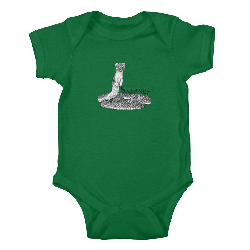 Sneasel | Snake + Weasel Hybrid Animal Kids Baby Bodysuit by Whatif Creations | Shop Hybrid Animals!