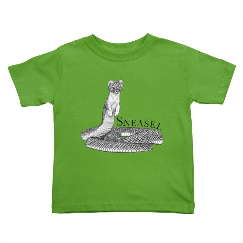 Sneasel | Snake + Weasel Hybrid Animal Kids Toddler T-Shirt by Whatif Creations | Shop Hybrid Animals!