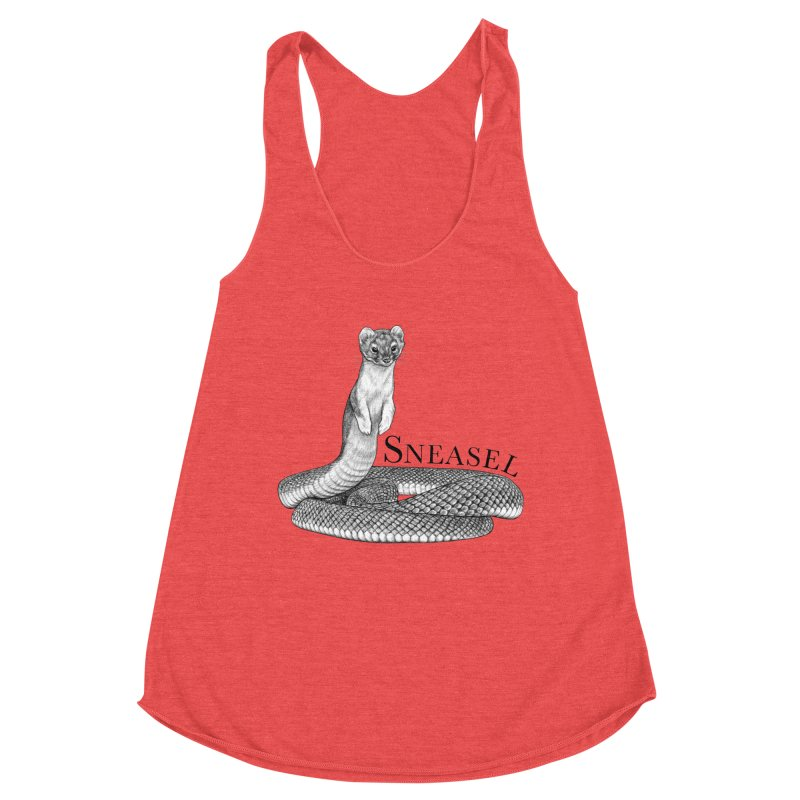 Sneasel | Snake + Weasel Hybrid Animal Women's Tank by Whatif Creations | Shop Hybrid Animals!
