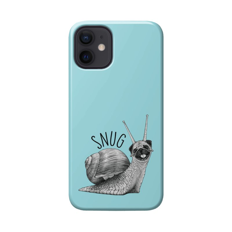 Snug | Snail + Pug Hybrid Animal Accessories Phone Case by Whatif Creations | Shop Hybrid Animals!
