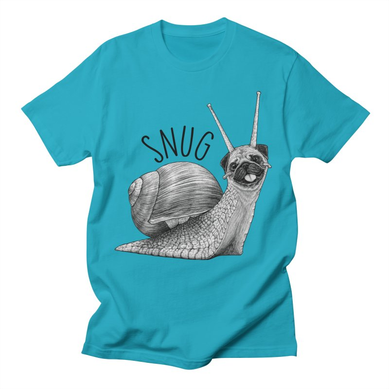 Snug | Snail + Pug Hybrid Animal Men's T-Shirt by Whatif Creations | Shop Hybrid Animals!