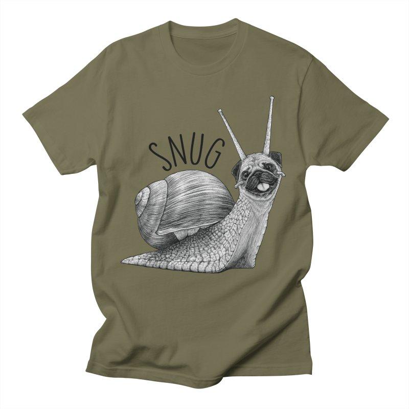 Snug   Snail + Pug Hybrid Animal Men's T-Shirt by Whatif Creations   Shop Hybrid Animals!