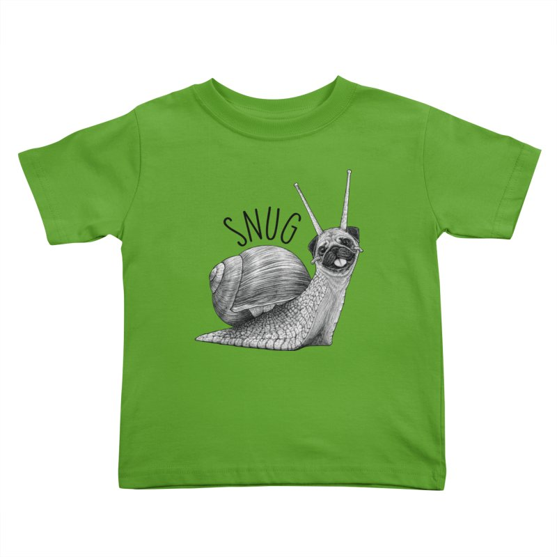 Snug | Snail + Pug Hybrid Animal Kids Toddler T-Shirt by Whatif Creations | Shop Hybrid Animals!