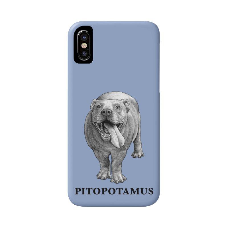 Pitopotamus | Pitbull + Hippopotamus Hybrid Animal Accessories Phone Case by Whatif Creations | Shop Hybrid Animals!