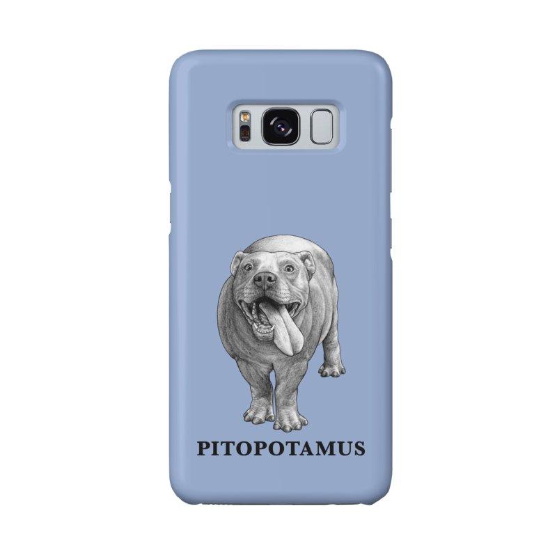 Pitopotamus   Pitbull + Hippopotamus Hybrid Animal Accessories Phone Case by Whatif Creations   Shop Hybrid Animals!