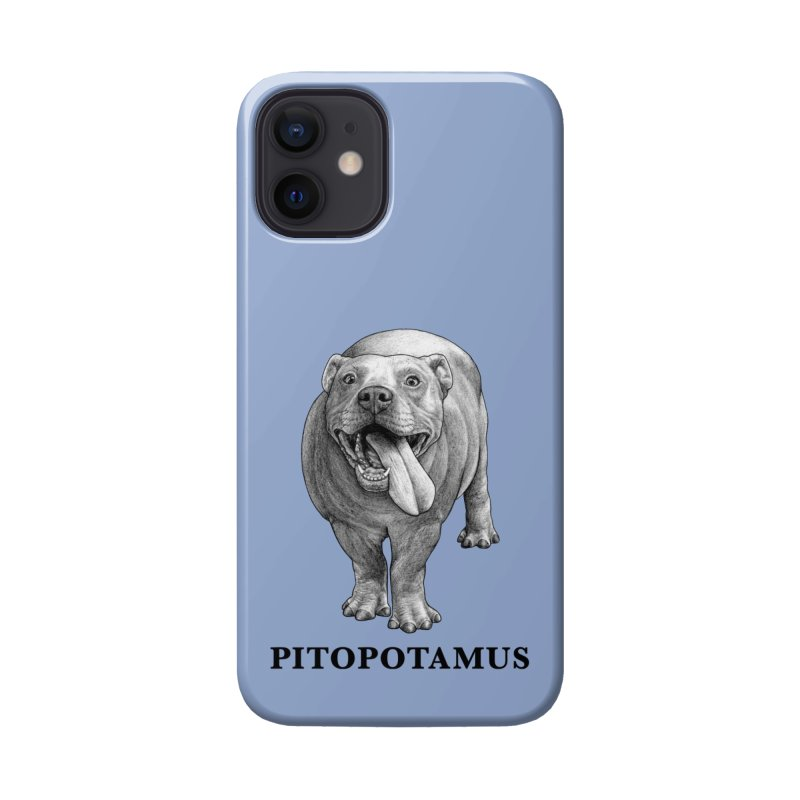Pitopotamus | Pitbull + Hippopotamus Hybrid Animal Accessories Phone Case by Whatif Creations | Shop Hybrid Animals!