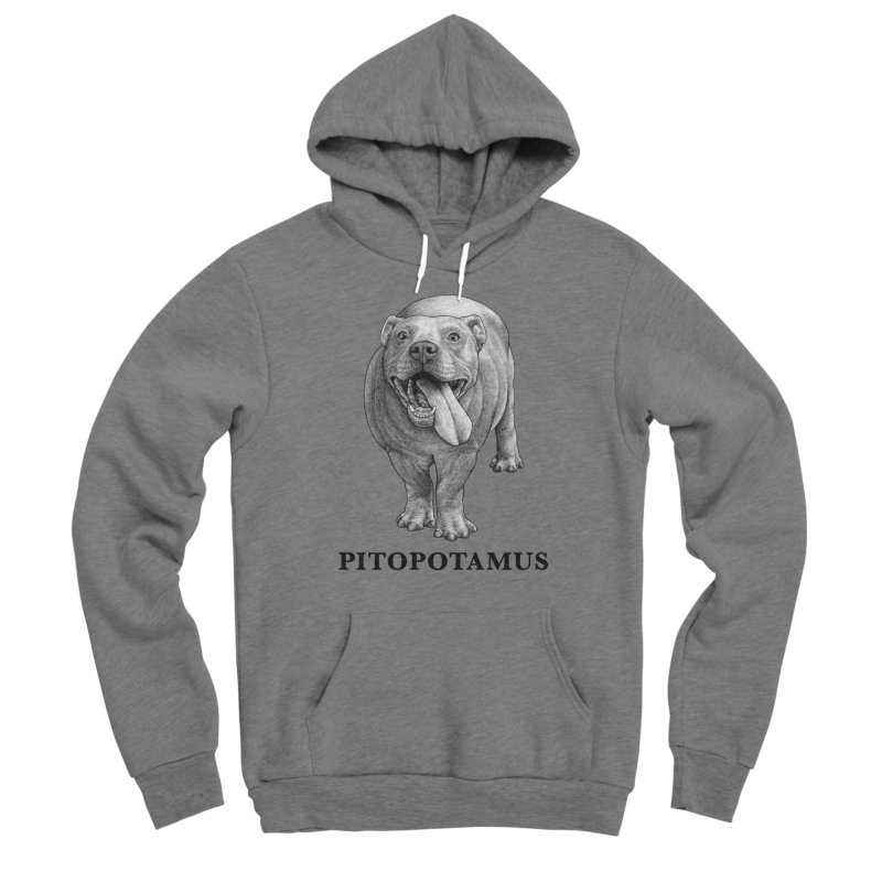 Pitopotamus | Pitbull + Hippopotamus Hybrid Animal Women's Pullover Hoody by Whatif Creations | Shop Hybrid Animals!