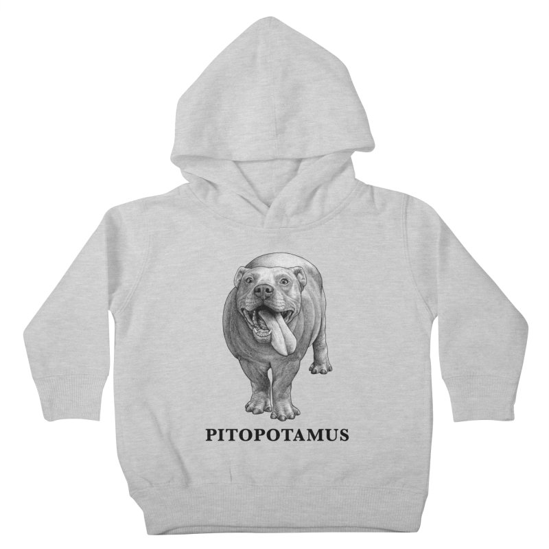 Pitopotamus | Pitbull + Hippopotamus Hybrid Animal Kids Toddler Pullover Hoody by Whatif Creations | Shop Hybrid Animals!