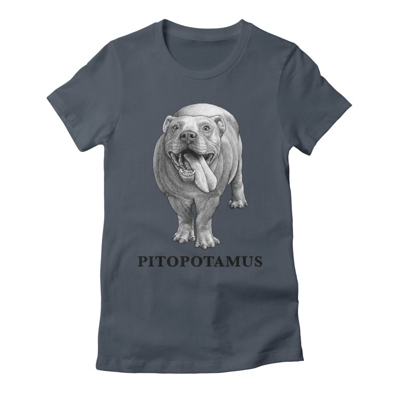Pitopotamus | Pitbull + Hippopotamus Hybrid Animal Women's T-Shirt by Whatif Creations | Shop Hybrid Animals!