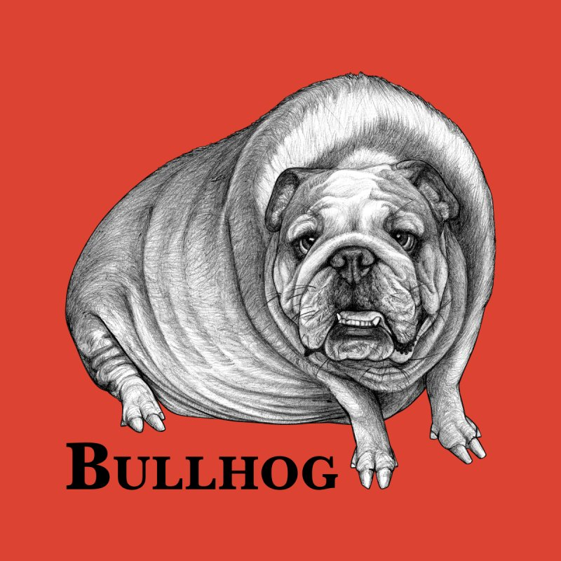 Bullhog | Bulldog + Hog Hybrid Animal Men's T-Shirt by Whatif Creations | Shop Hybrid Animals!
