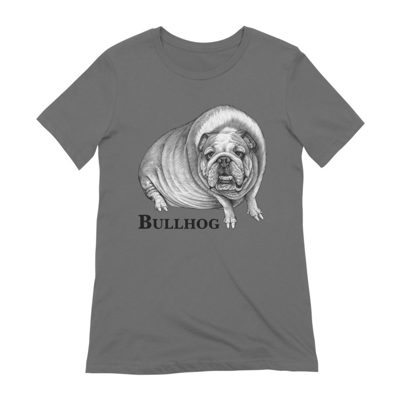 Bullhog | Bulldog + Hog Hybrid Animal Women's T-Shirt by Whatif Creations | Shop Hybrid Animals!