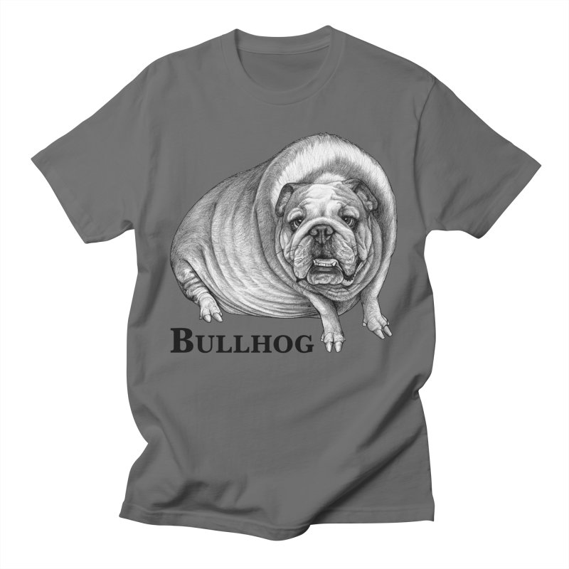 Bullhog | Bulldog + Hog Hybrid Animal Men's T-Shirt by Whatif Creations | Shop Hybrid Animals!