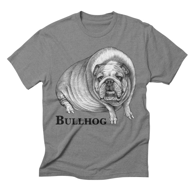 Bullhog   Bulldog + Hog Hybrid Animal Men's T-Shirt by Whatif Creations   Shop Hybrid Animals!