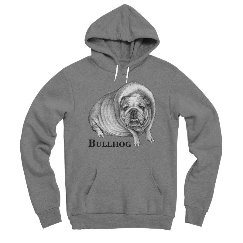 Bullhog | Bulldog + Hog Hybrid Animal Men's Pullover Hoody by Whatif Creations | Shop Hybrid Animals!