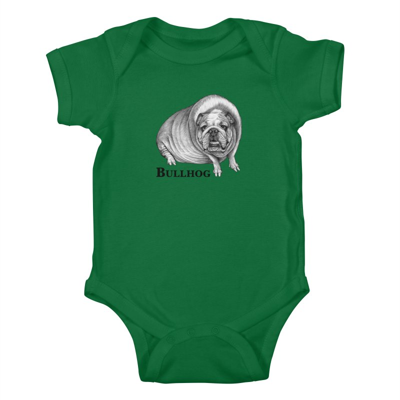 Bullhog | Bulldog + Hog Hybrid Animal Kids Baby Bodysuit by Whatif Creations | Shop Hybrid Animals!