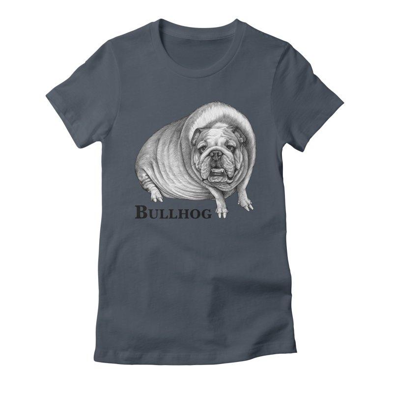 Bullhog | Bulldog + Hog Hybrid Animal Women's T-Shirt by Whatif Creations | Shop Hybrid Animals!