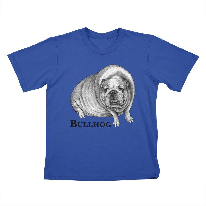 Bullhog   Bulldog + Hog Hybrid Animal Kids T-Shirt by Whatif Creations   Shop Hybrid Animals!