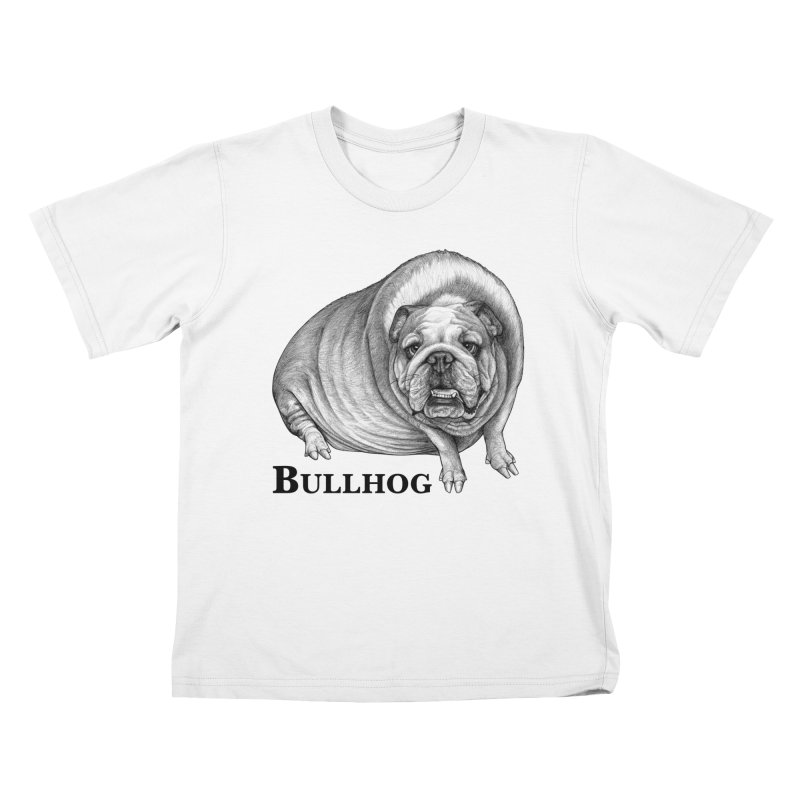 Bullhog | Bulldog + Hog Hybrid Animal Kids T-Shirt by Whatif Creations | Shop Hybrid Animals!
