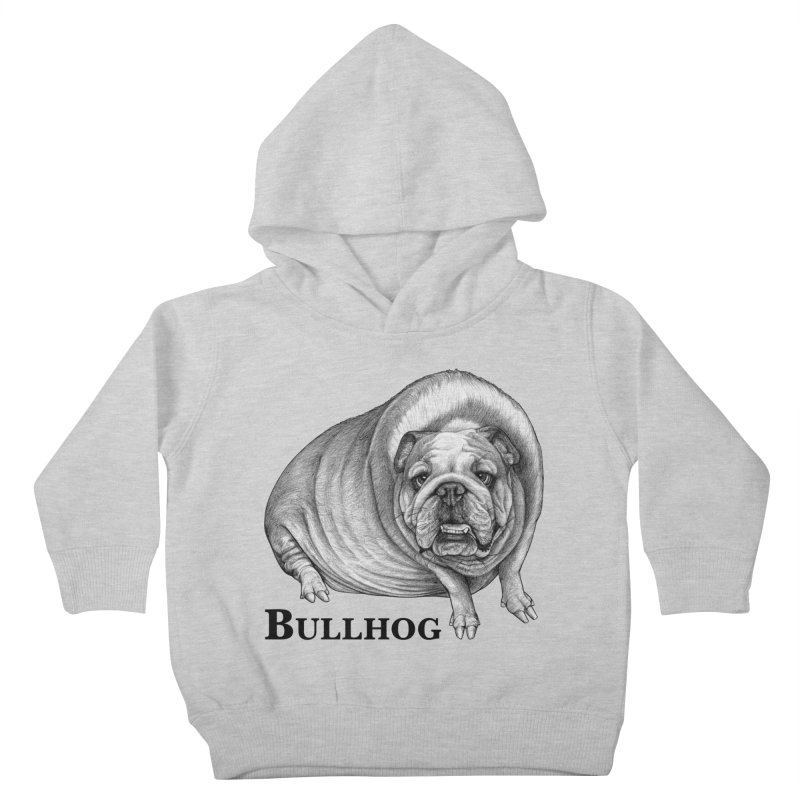 Bullhog | Bulldog + Hog Hybrid Animal Kids Toddler Pullover Hoody by Whatif Creations | Shop Hybrid Animals!