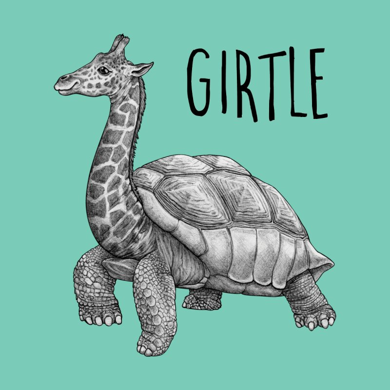 Girtle | Giraffe + Turtle Hybrid Animal Women's T-Shirt by Whatif Creations | Shop Hybrid Animals!