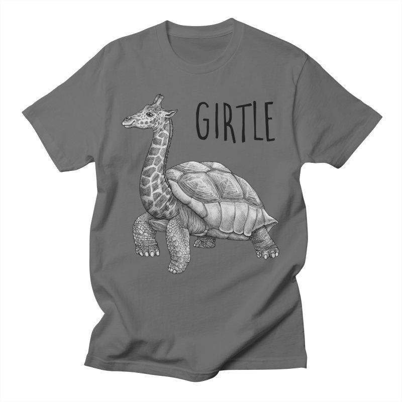 Girtle | Giraffe + Turtle Hybrid Animal Men's T-Shirt by Whatif Creations | Shop Hybrid Animals!