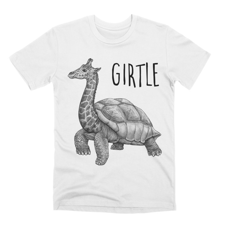 Girtle | Giraffe + Turtle Hybrid Animal Men's T-Shirt by Whatif Creations | Shop Hybrid Animals!
