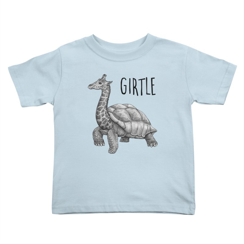 Girtle   Giraffe + Turtle Hybrid Animal Kids Toddler T-Shirt by Whatif Creations   Shop Hybrid Animals!