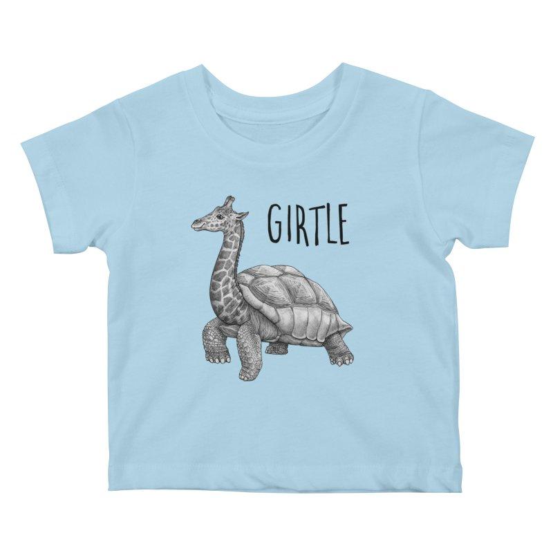 Girtle | Giraffe + Turtle Hybrid Animal Kids Baby T-Shirt by Whatif Creations | Shop Hybrid Animals!