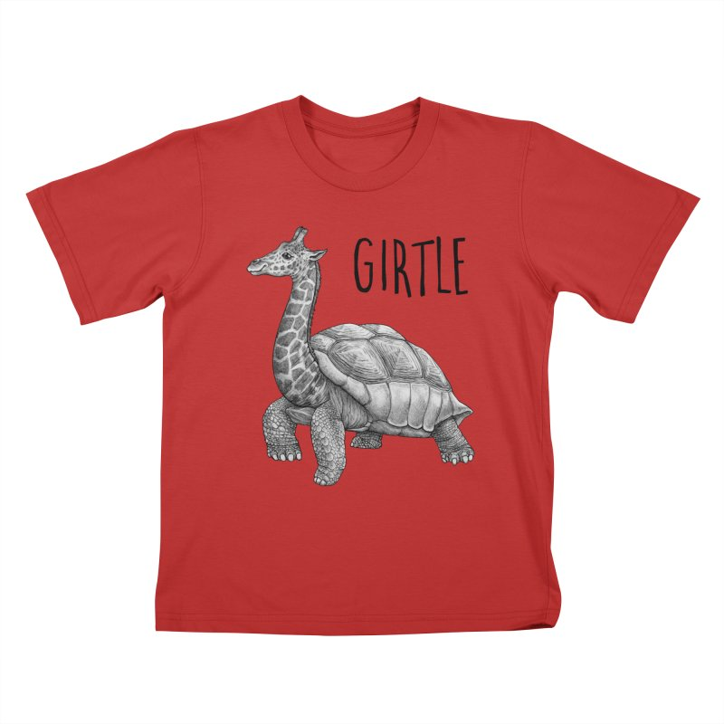 Girtle | Giraffe + Turtle Hybrid Animal Kids T-Shirt by Whatif Creations | Shop Hybrid Animals!