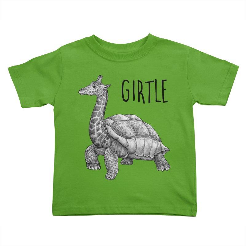 Girtle | Giraffe + Turtle Hybrid Animal Kids Toddler T-Shirt by Whatif Creations | Shop Hybrid Animals!