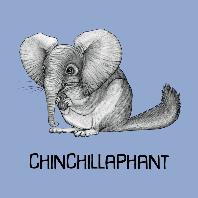 Chinchillaphant | Chinchilla + Elephant Hybrid Animal Men's T-Shirt by Whatif Creations | Shop Hybrid Animals!