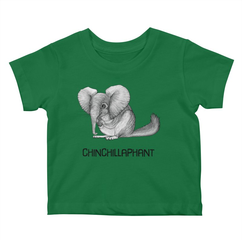 Chinchillaphant | Chinchilla + Elephant Hybrid Animal Kids Baby T-Shirt by Whatif Creations | Shop Hybrid Animals!